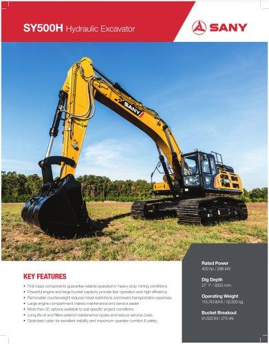 SANY SY500H 50 TON Hydraulic Excavator