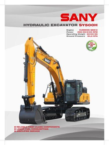 Sany Sy500h 50.5 Ton Mining Construction Usage Large Crawler RC Hydraulic Excavator