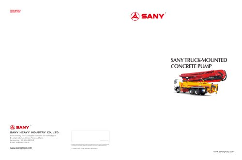 SANY SYG5271THB 38 Truck-mounted Concrete Pump