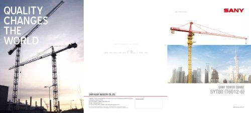 SANY SYT80(T6012-6) Tower Crane