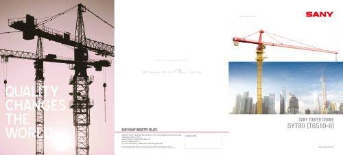 SANY SYT80(T6510-6) TOWER CRANE