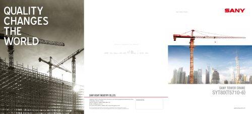 SANY SYT809(T5710-6)tower crane