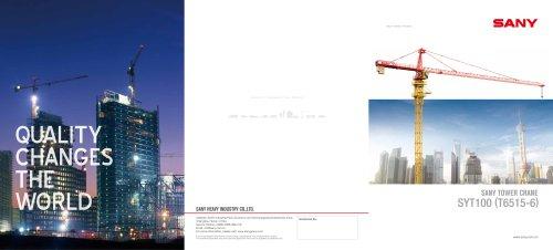 SANY TOWER CRANE SYT100 (T6515-6)
