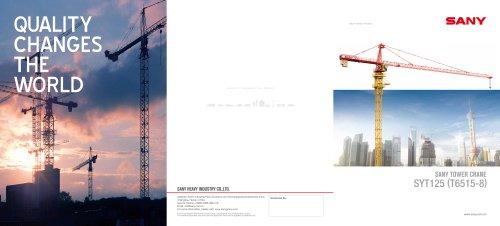 SANY TOWER CRANE SYT125 (T6515-8)