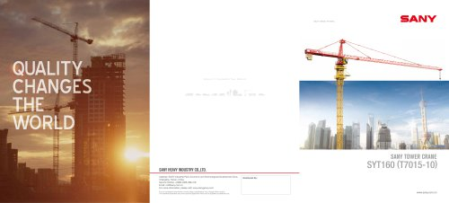 SANY TOWER CRANE SYT160 (T7015-10)