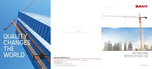 Sany tower crane SYT315 (T7530-16)