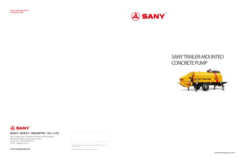 SANY TRAILER-MOUNTED CONCRETE PUMP