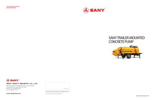 SANY TRAILER-MOUNTED CONCRETEPUMP