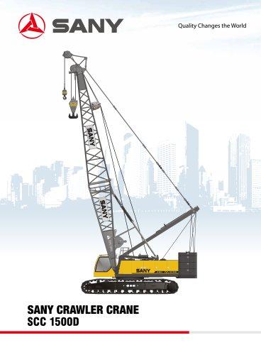 SCC1500D 150 tons crawler crane