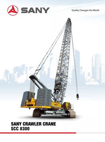 SCC8300 830 TON CRAWLER CRANE