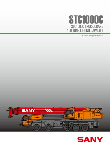 STC1000C 100TON TRUCK MOUNTED CRANE