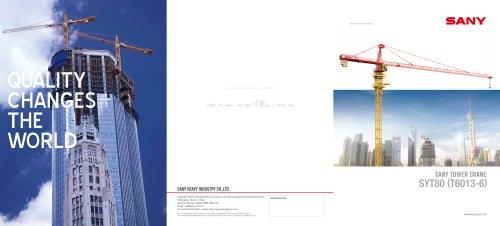 SYT80(T6013-6) TOWER CRANE