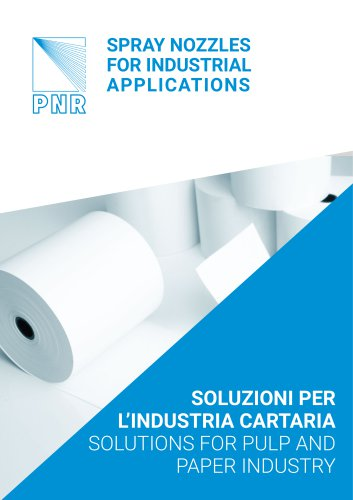 CATALOGUE - SOLUTIONS FOR  THE PULP AND  PAPER INDUSTRY