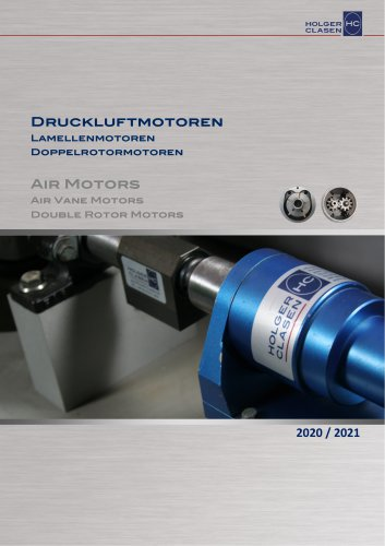 Air motors - Air vane motors and Double rotor motors
