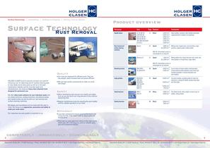 Brochure Surface Technology - Rust Removal - 2