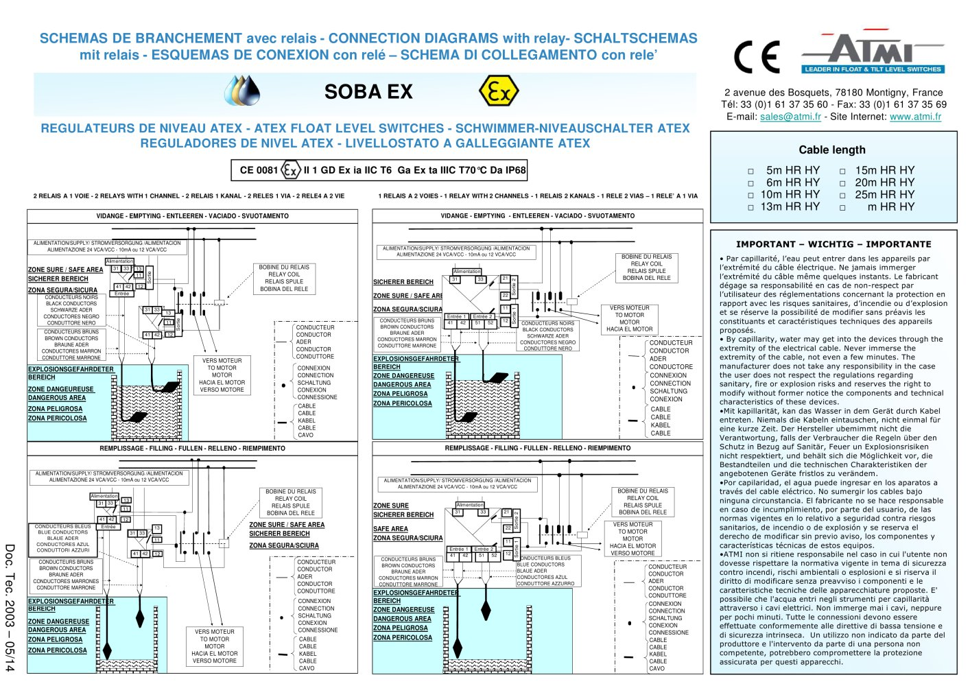 Wiring Diagrams Soba Ex Atex Certificate Atmi Pdf Catalogue Electronic Ballast Diagram 1 Pages