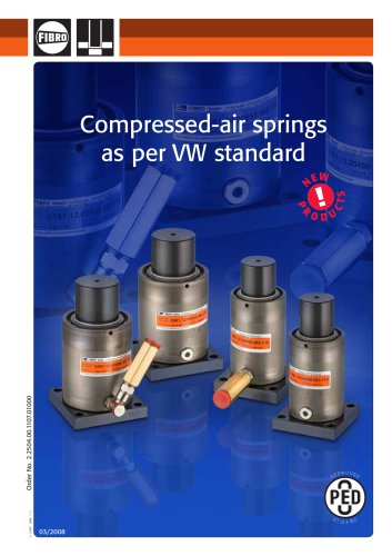 Compressed-air springs as per VW standard