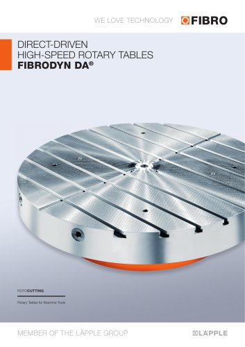 FIBRODYN DA  NC rotary tables with direct torque drive for combined milling & turning