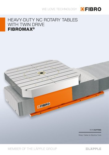 FIBROMAX - Second-generation heavy-load positioning table features high rigidity and efficiency