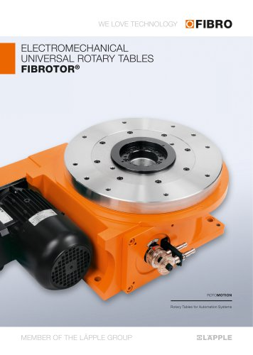 FIBROTOR - Electromechanical Universal Rotary Tables