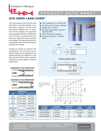 375 ZERO LEAK CHEK