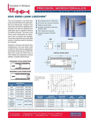 500 Zero Leak LeeChek