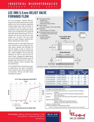 5.5mm Relief Valve Forward Flow