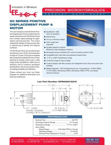 60 Series Positive Displacement P&M