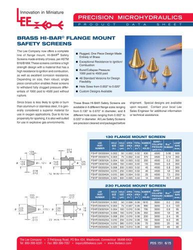 BRASS HI-BAR® FLANGE MOUNT SAFETY SCREENS