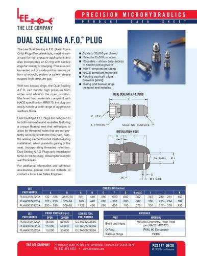 Dual Sealing AFO Plug