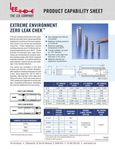 Extreme Environment Zero Leak Chek