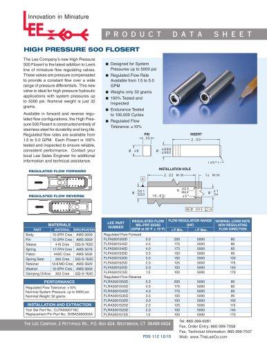 HIGH PRESSURE 500 FLOSERT