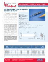 IEP Extended Performance Solenoid Valve