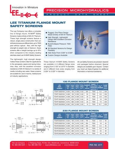 LEE TITANIUM FLANGE MOUNT SAFETY SCREENS