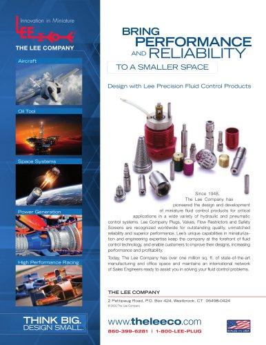Precision MicroHydraulics Line Card