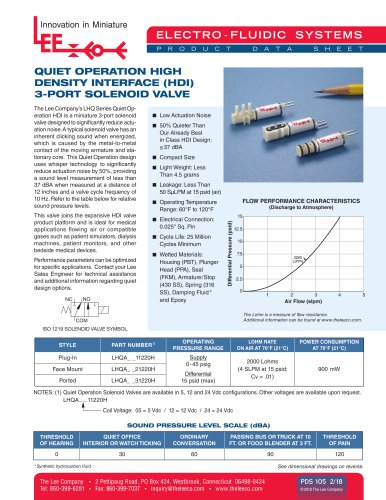 Quiet Operation HDI Product Data Sheet