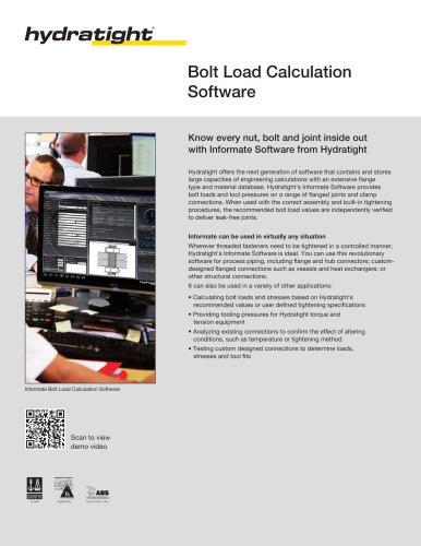 Bolt Load Calculation Software - Hydratight - PDF Catalogs