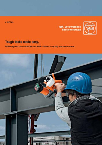 FEIN magnetic core drills KBM and KBB ? Leaders in quality and performance