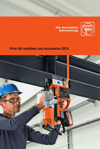 Machines and accessories 01/2018