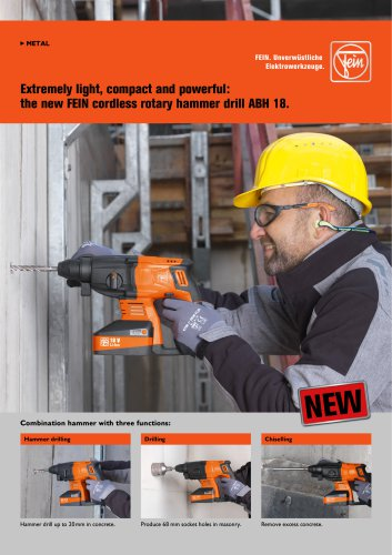 The new FEIN cordless rotary hammer drill ABH 18