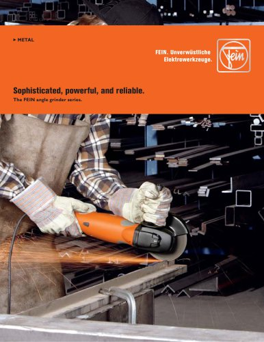 The FEIN angle grinder series
