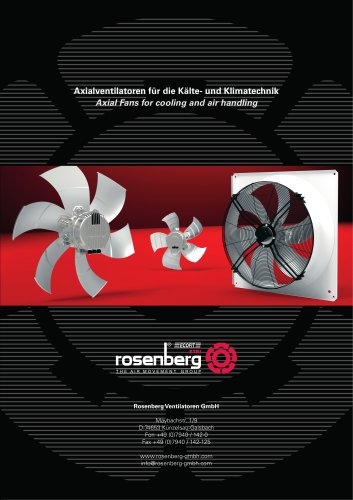 Axial Fans for cooling and air handling