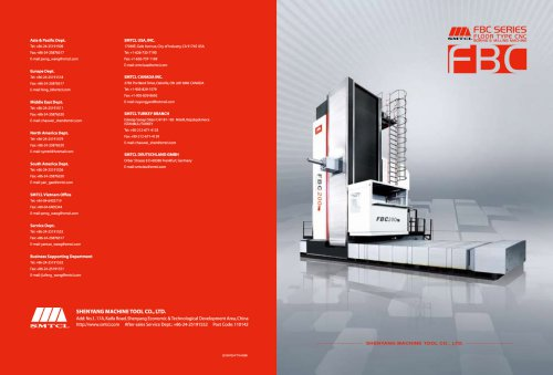 SMTCL CNC boring and milling center FBC series