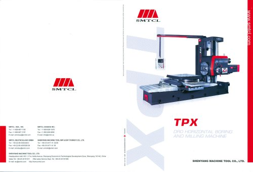 SMTCL CNC boring and milling center horizontal TPX series