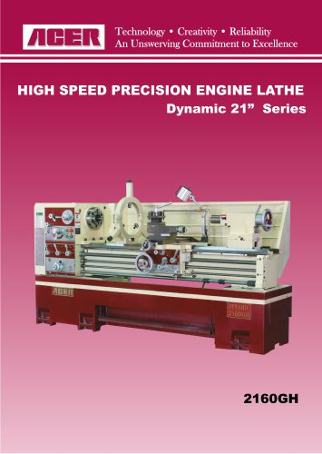 "HIGH SPEED PRECISION ENGINE LATHE Dynamic 21"" Series"