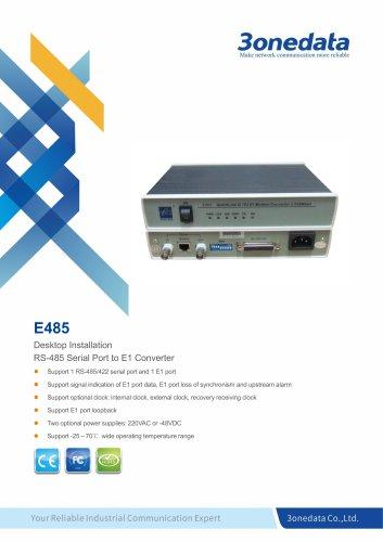 3onedata | E485 | RS-485/422 to E1 Converter