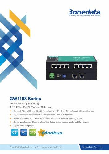 3onedata | GW1108 | 8-port RS-232/485/422 to Ethernet Modbus Gateways