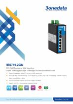 3onedata | IES716-2GS | Managed |DIN rail | 4 ports Industrial Ethernet Switch with 2 Gigabit SFP sockets