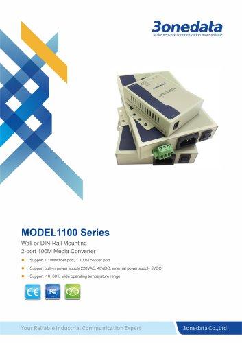3onedata | Model1100 | 1-port Fast Ethernet to Fiber Converter