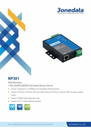 3onedata | NP301 | 1-port RS-232/485/422 Serial Device Server